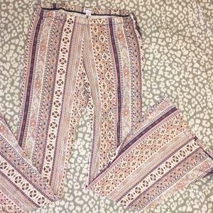 Flare boho style pants